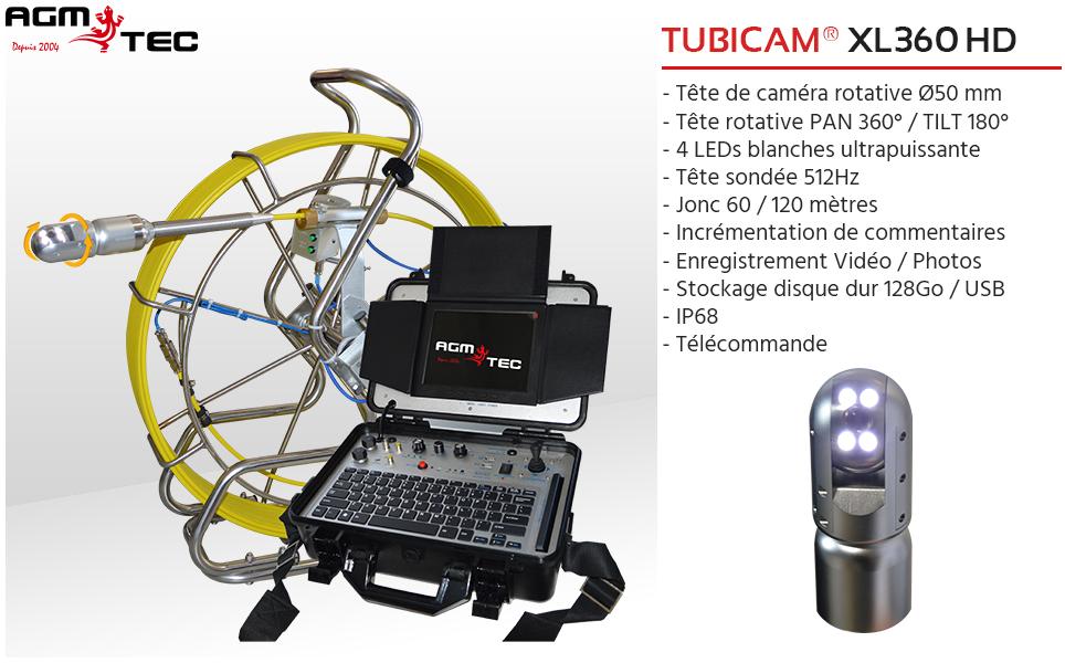 Vous cherchez un chariot robot d'inspection de canalisations, découvrez la gamme AGM TEC