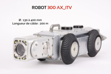 Robot d'inspection visuelle de canalisations