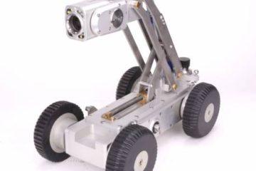 robot d'inspection sur chariot