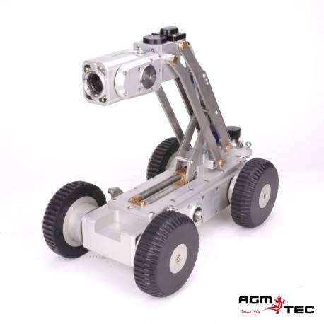 Contrôle des réseaux de canalisation avec un robot d'inspection sur chariot – AGM TEC
